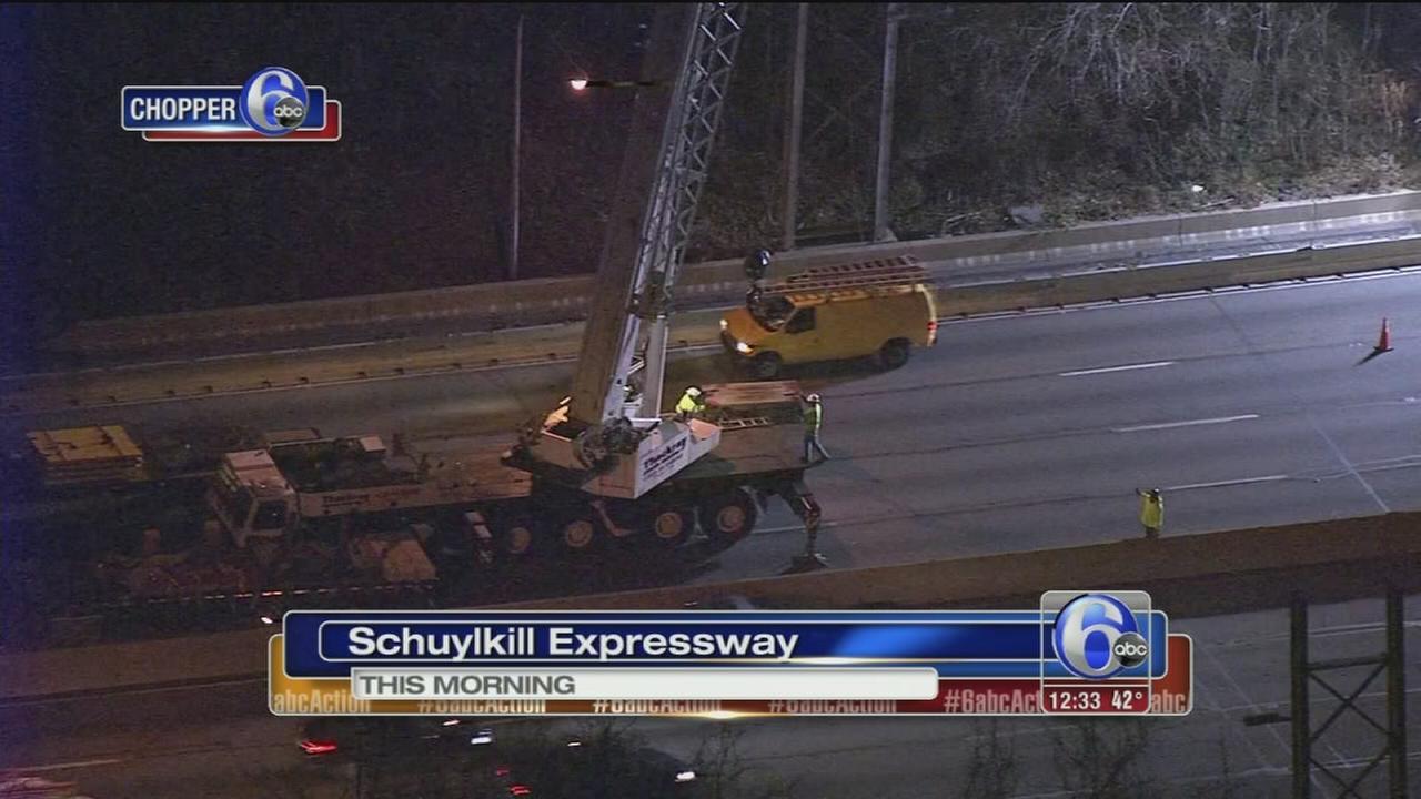 Crane causes rush hour backups on I-76