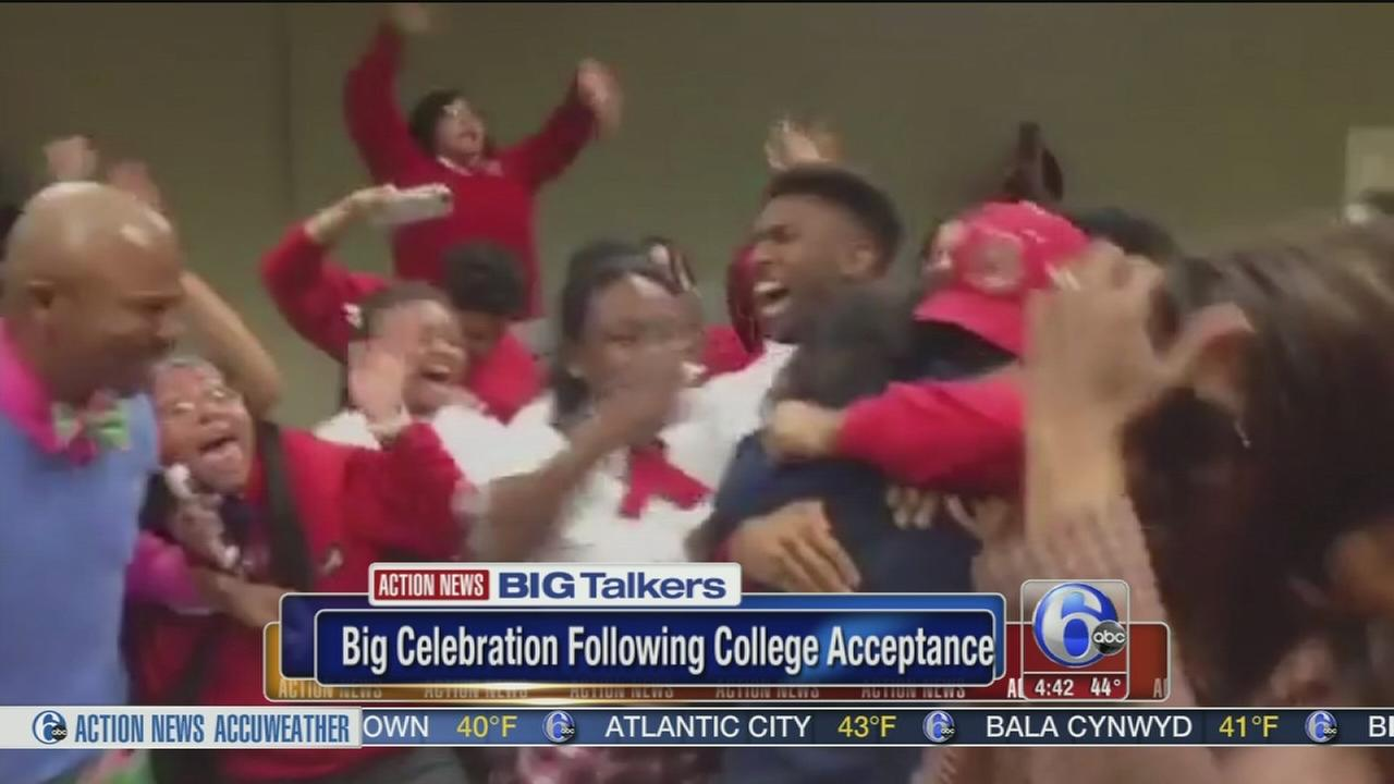 Students college acceptance excitement goes viral