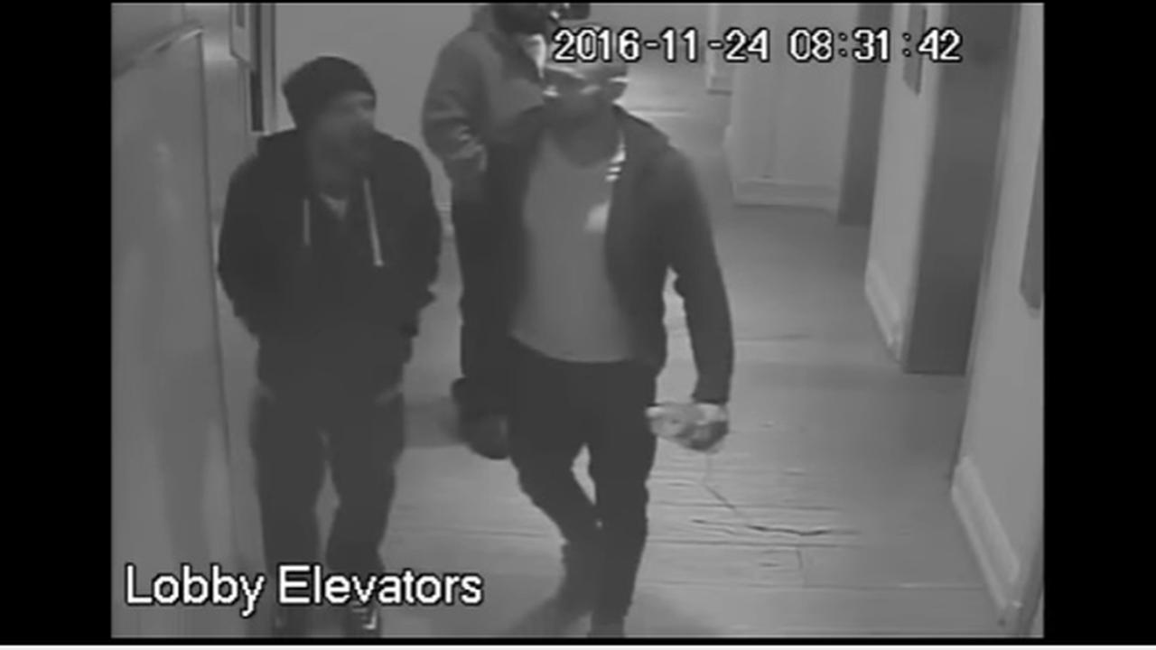 Philadelphia police are searching for three suspects wanted in the robbery of a guest at a hotel in Rittenhouse Square.