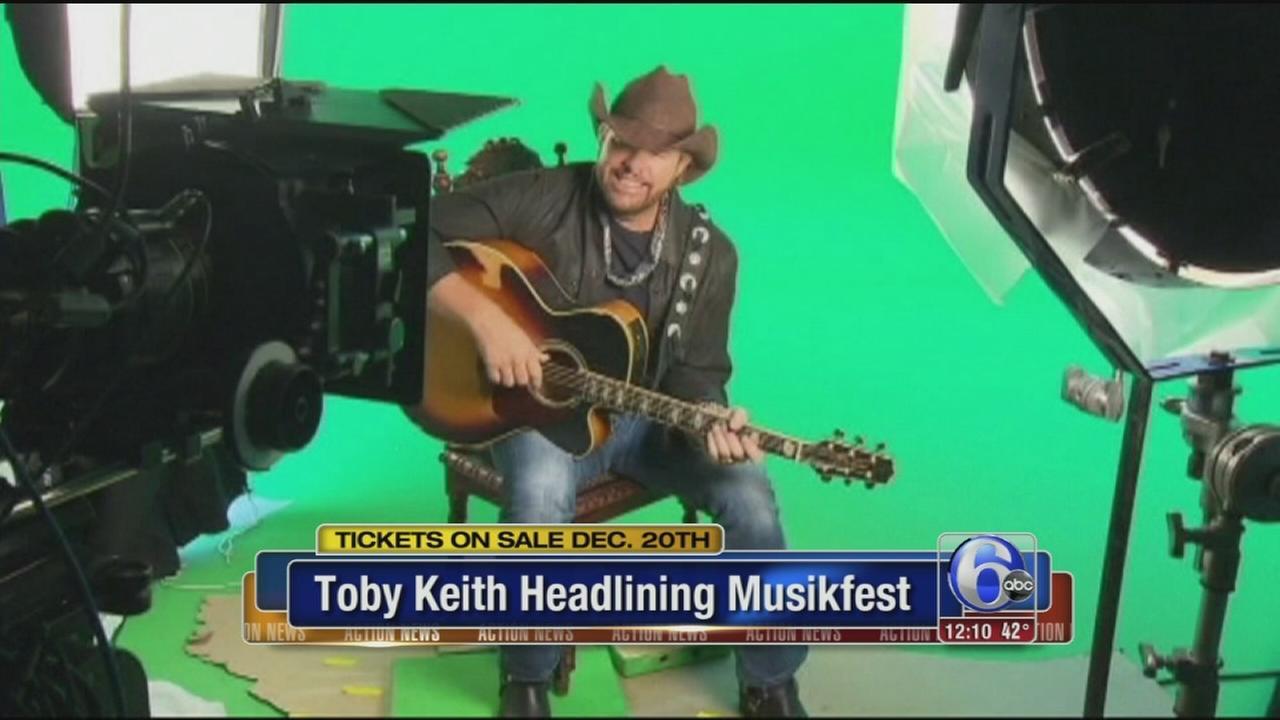Toby Keith headlining Musikfest