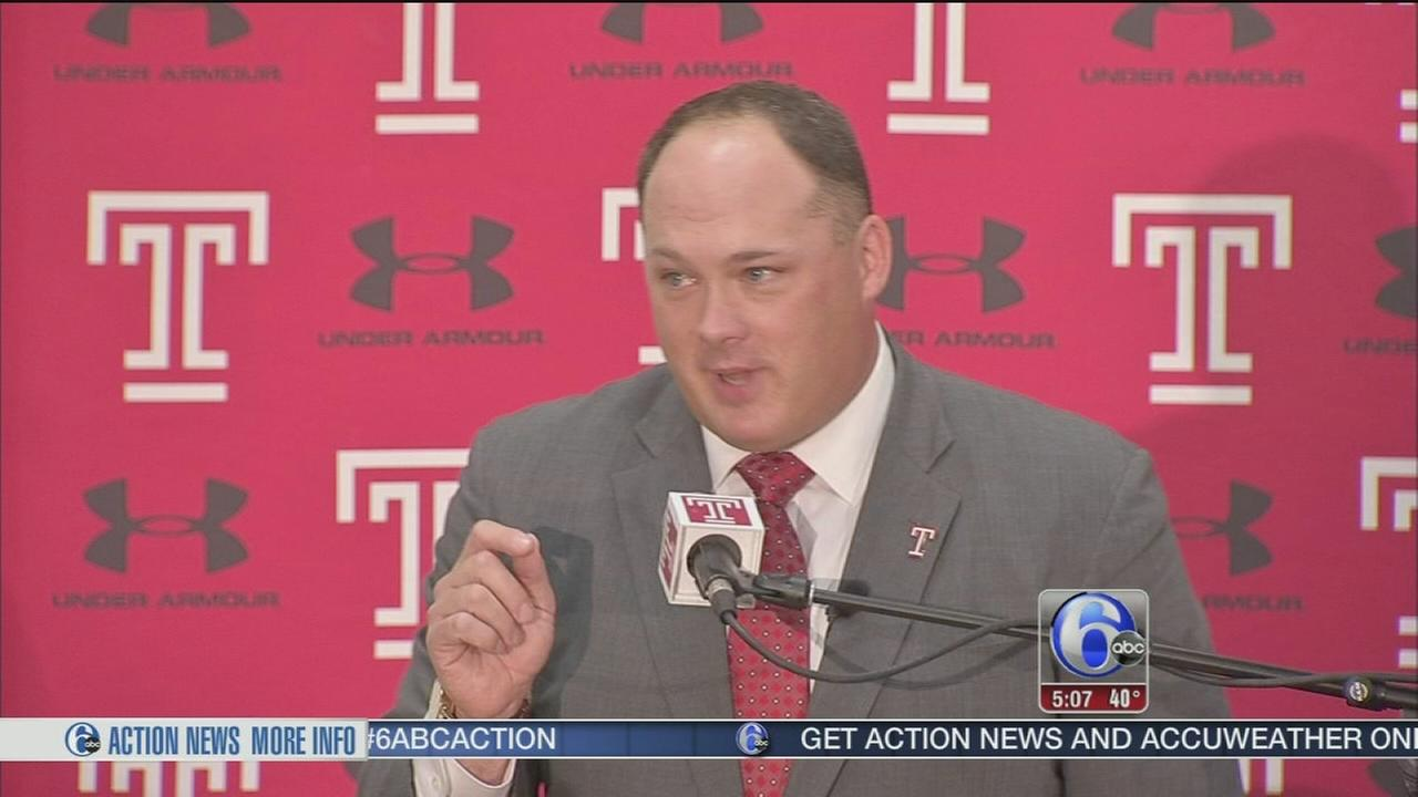 Temple introduces new head coach