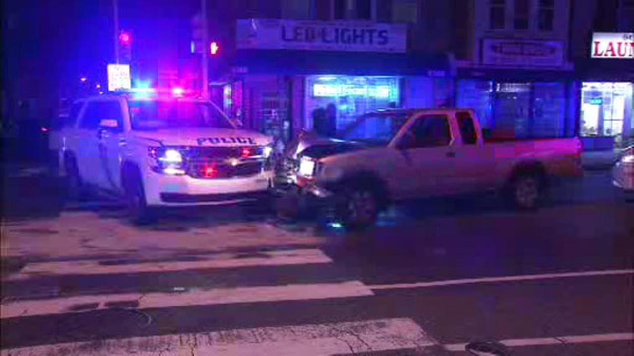 Police cruiser involved in Olney crash