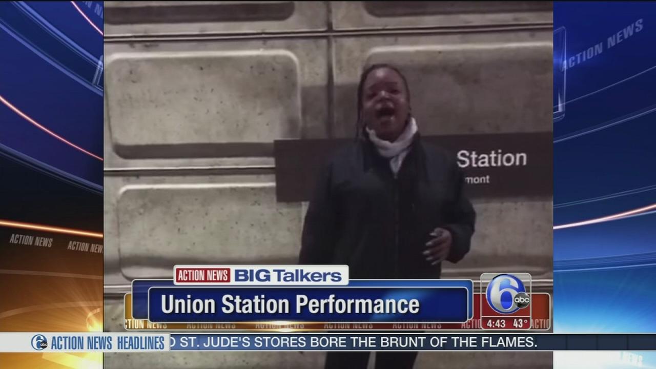 Womans powerful holiday performance at subway station goes viral