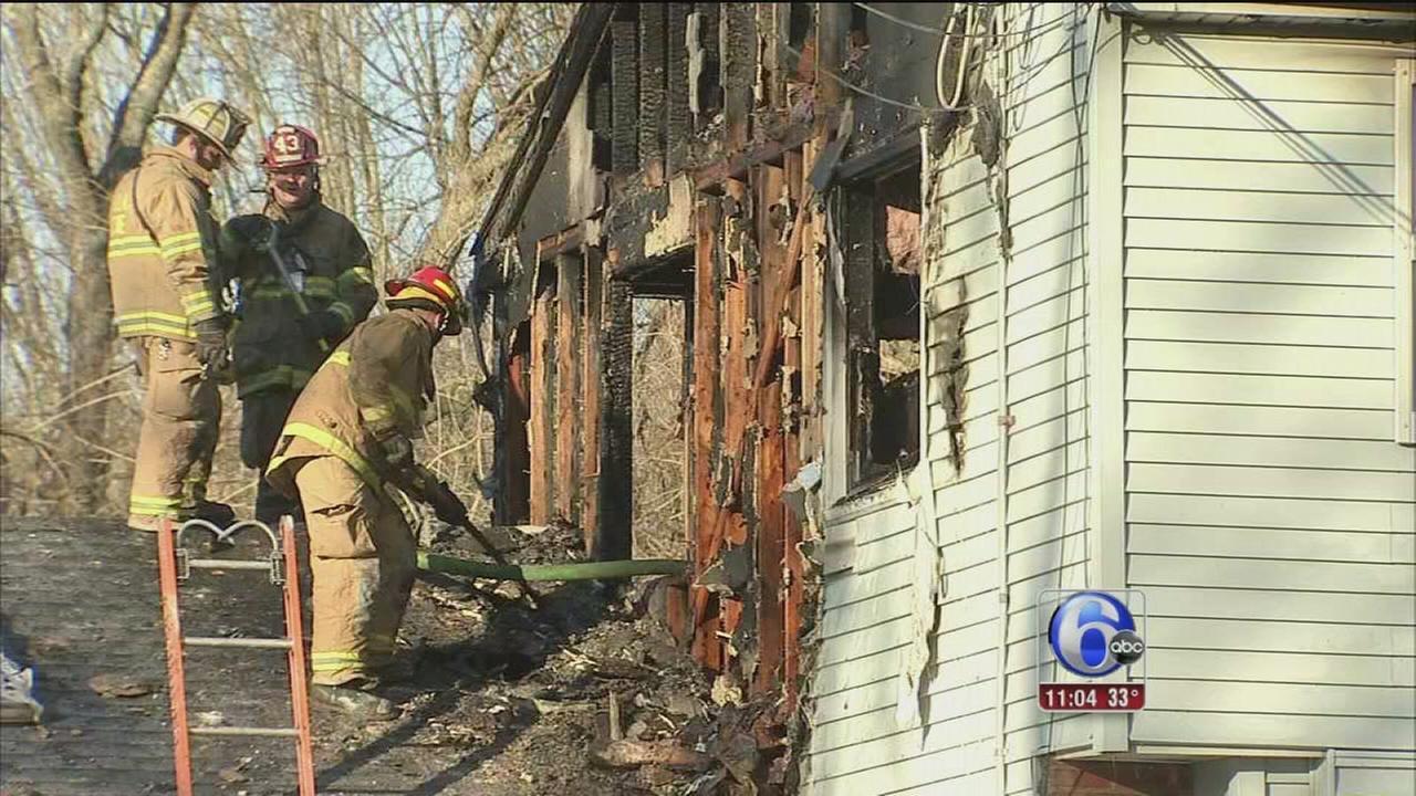 Firefighters battle Glen Mills fire