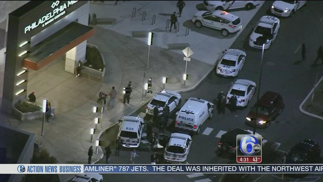 VIDEO: Strong police presence following Philadelphia Mills melee