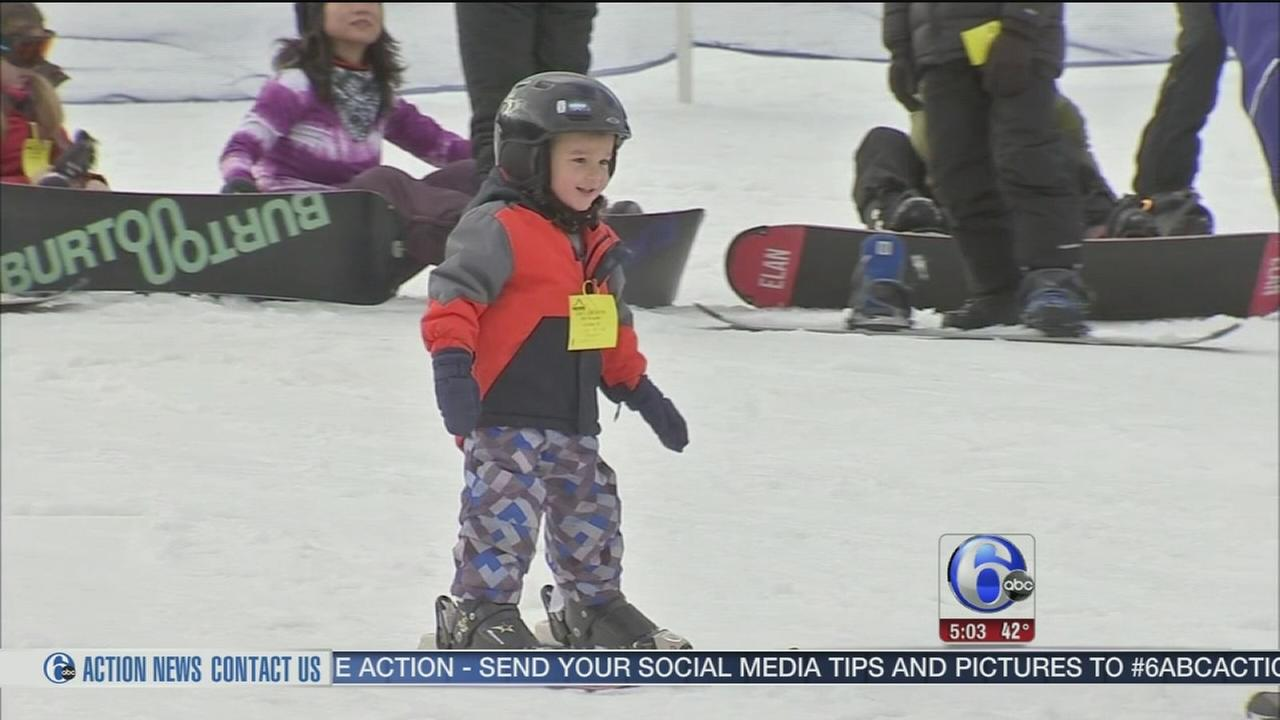 VIDEO: Skiers back in action on Pa. slopes