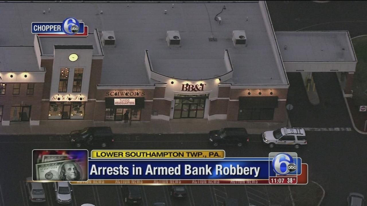 VIDEO: Arrests in Bucks Co. bank robbery