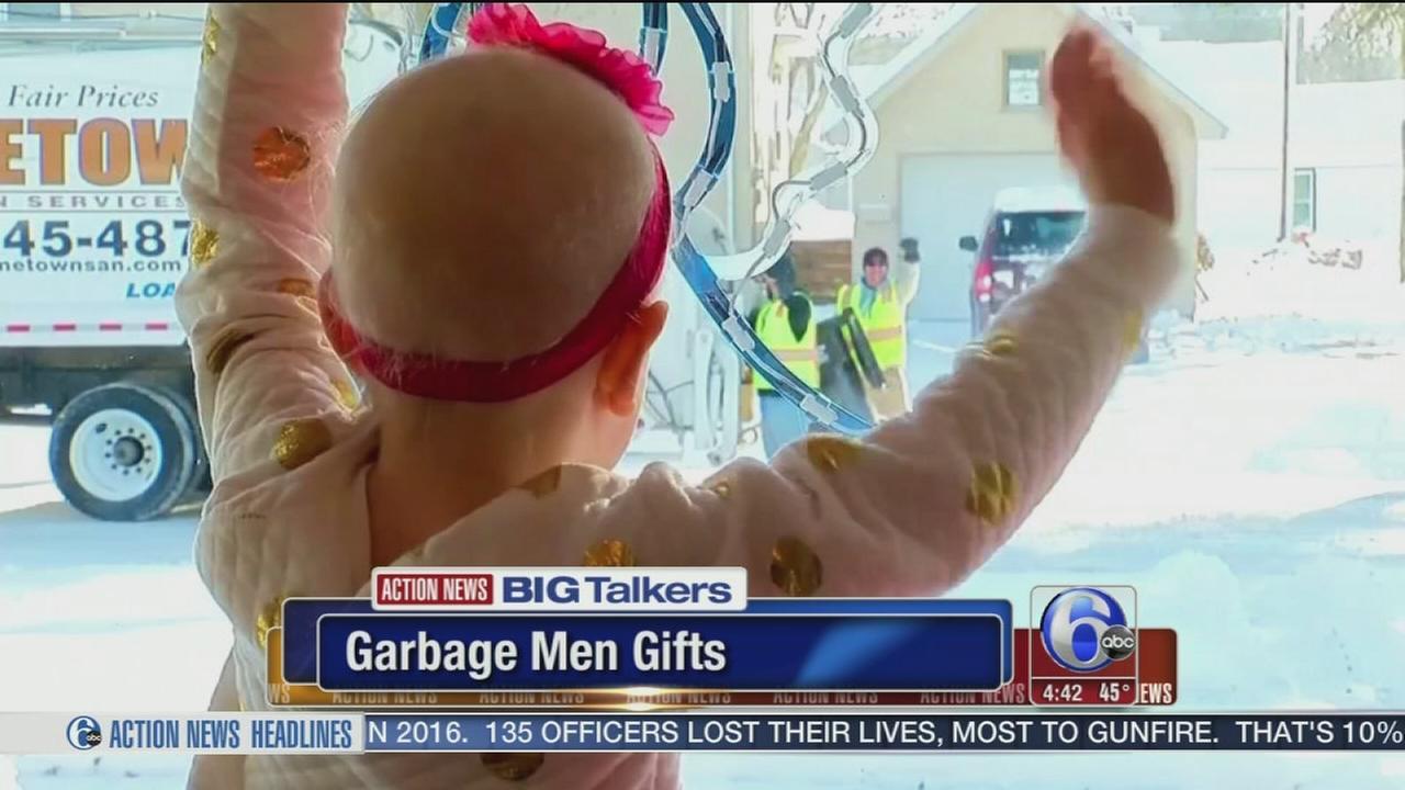 VIDEO: Garbage men gifts