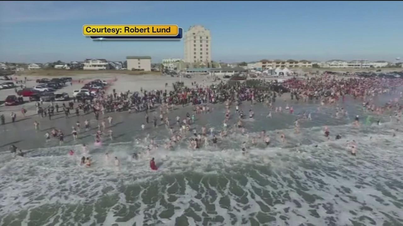 VIDEO: Polar plunges raise thousands for a good cause