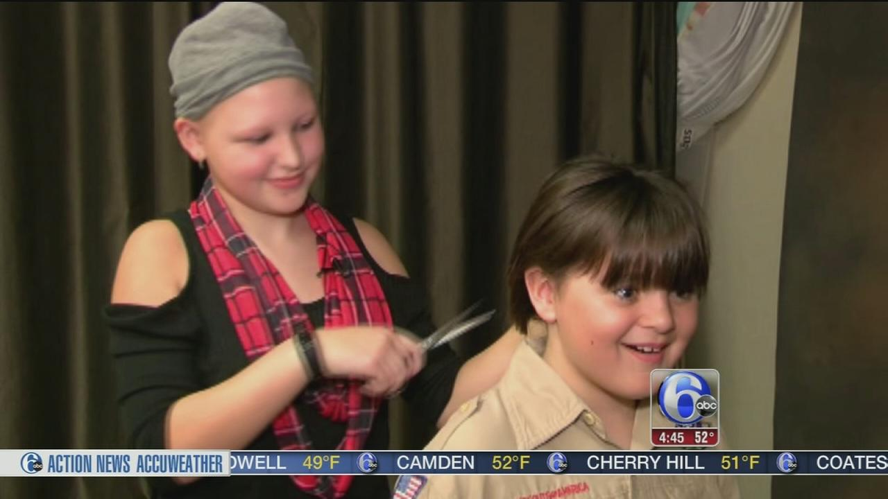 Boy grows out hair for 2 years to help friend with Alopecia