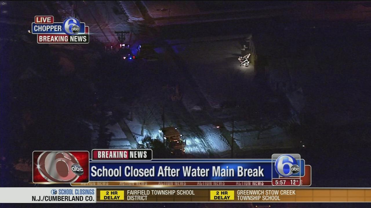Water main break closes South Jersey school