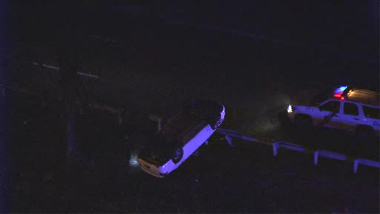 Police are investigating a crash involving an overturned vehicle on the Roosevelt Boulevard in Northeast Philadelphia.