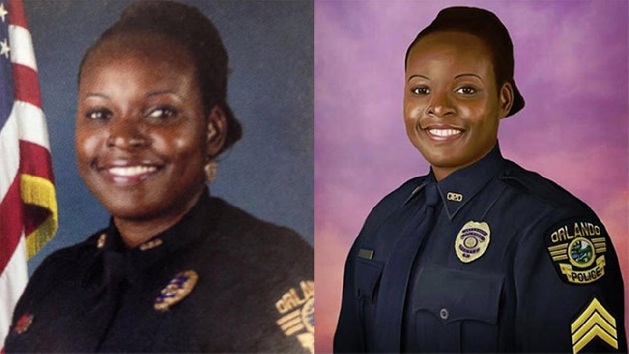 Philadelphia police officer paints portrait of fallen Orlando sergeant