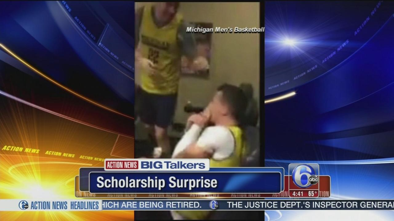 Michigan basketball player surprised with scholarship