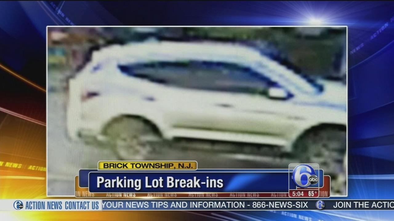 SUV sought in parking lot break-ins