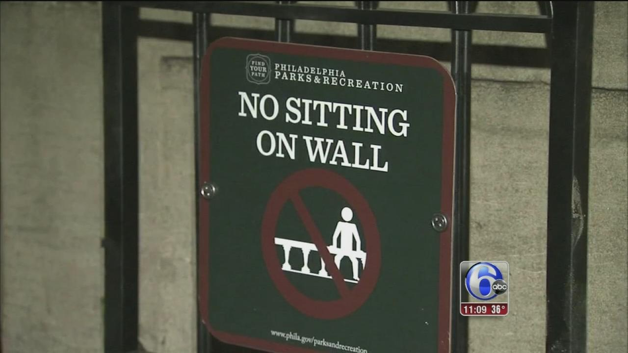 New Rule: No sitting on wall in Rittenhouse Square