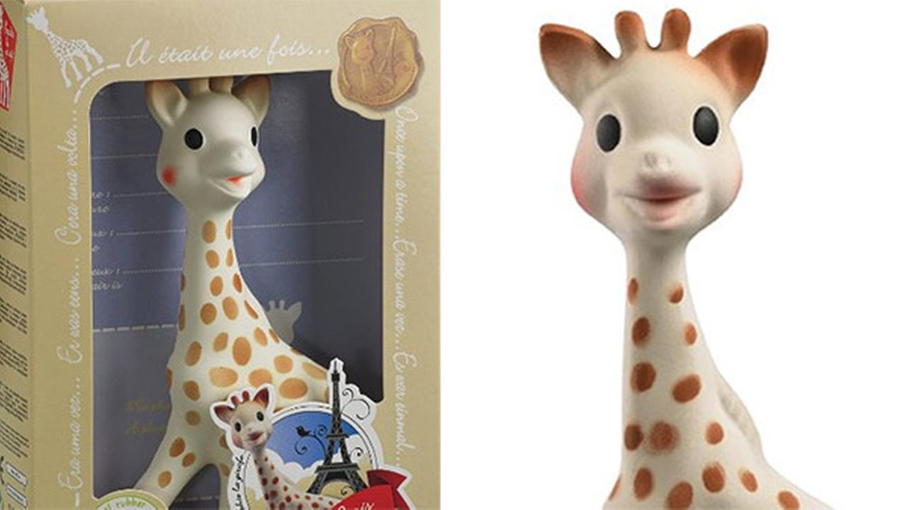 Parents report mold in Sophie the Giraffe teething toy