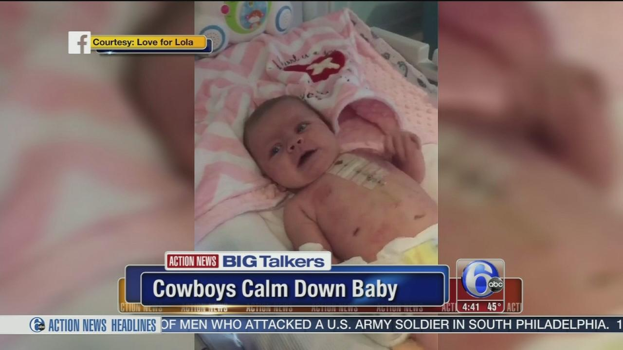 Baby with heart defect stops crying when watching Dallas Cowboys