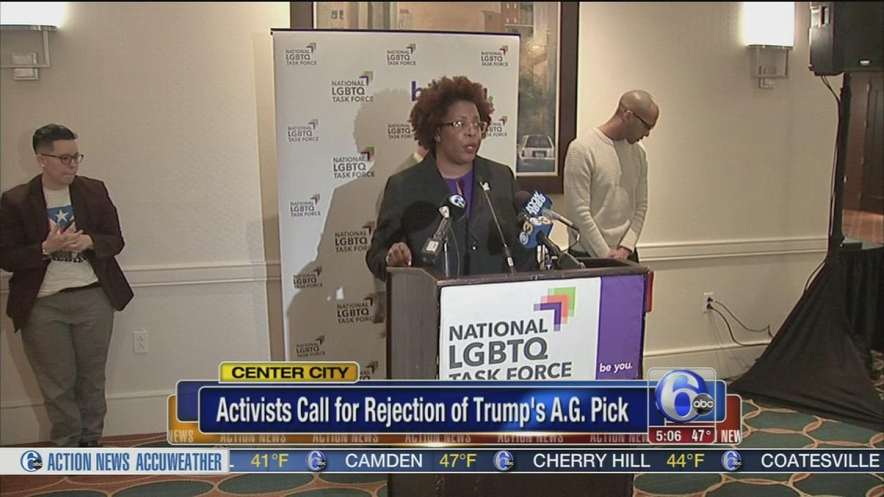 LGBT activists call for rejection of Trump?s AG pick