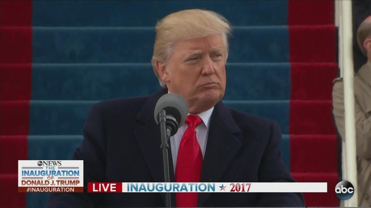 President Donald Trump delivers Inaugural Address