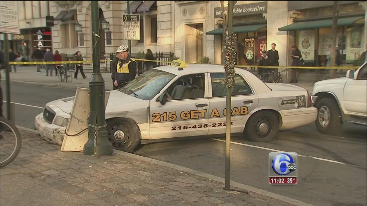 Police: Naked man drove stolen cab through Rittenhouse Square