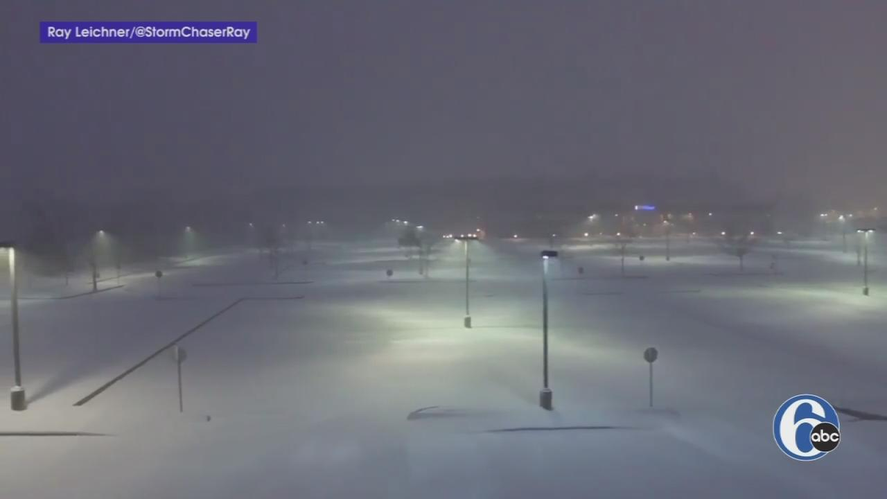 VIDEO: Flying through snowflakes in Bucks County