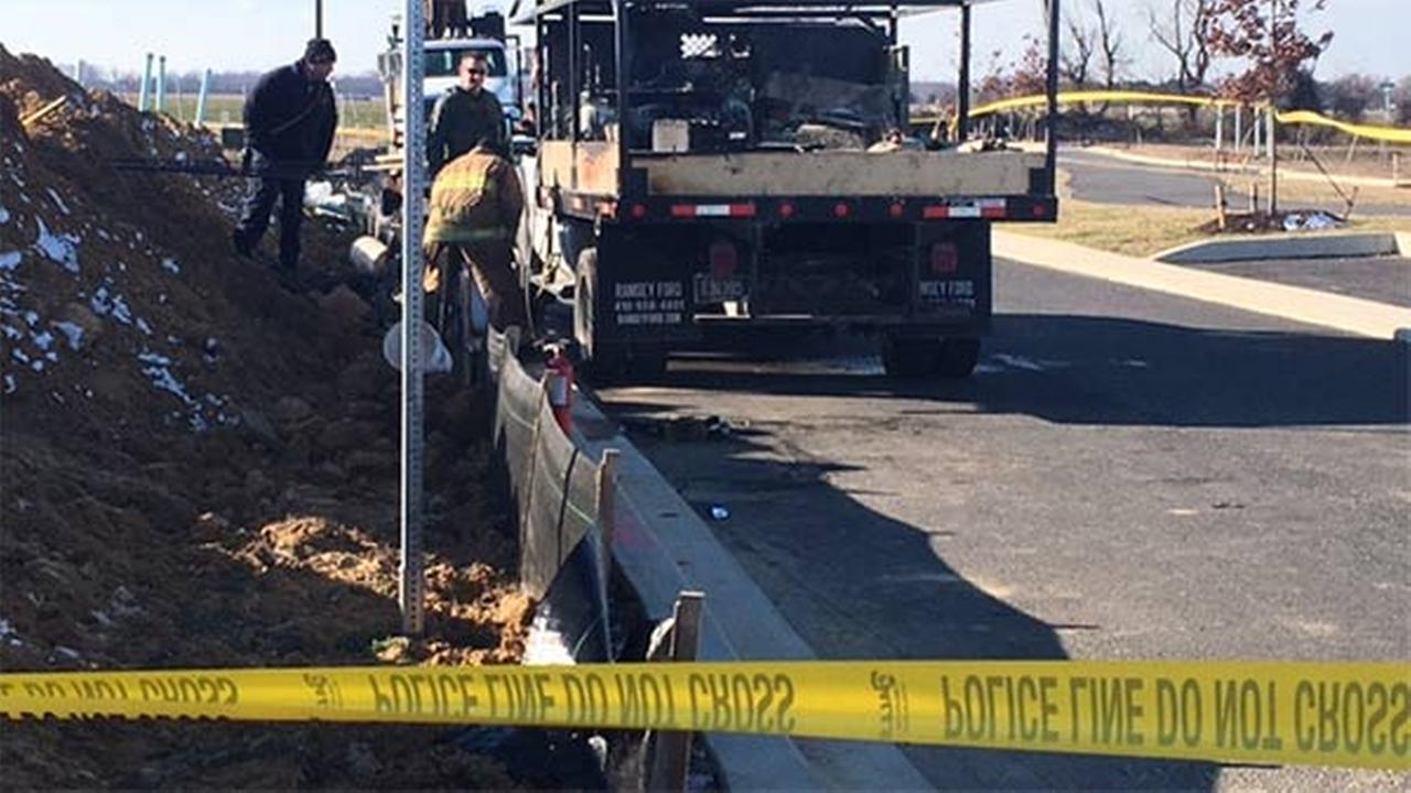 Man burned while working on machinery in Delaware