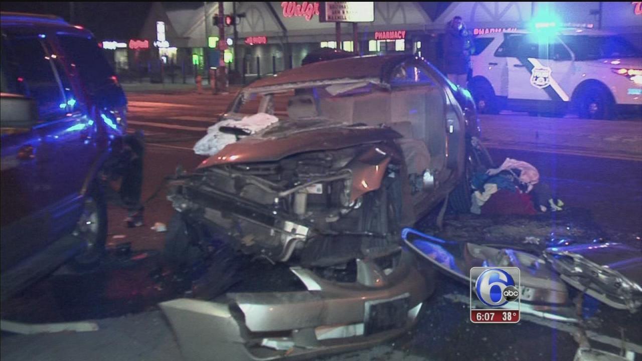Driver arrested for DUI after Broad Street crash