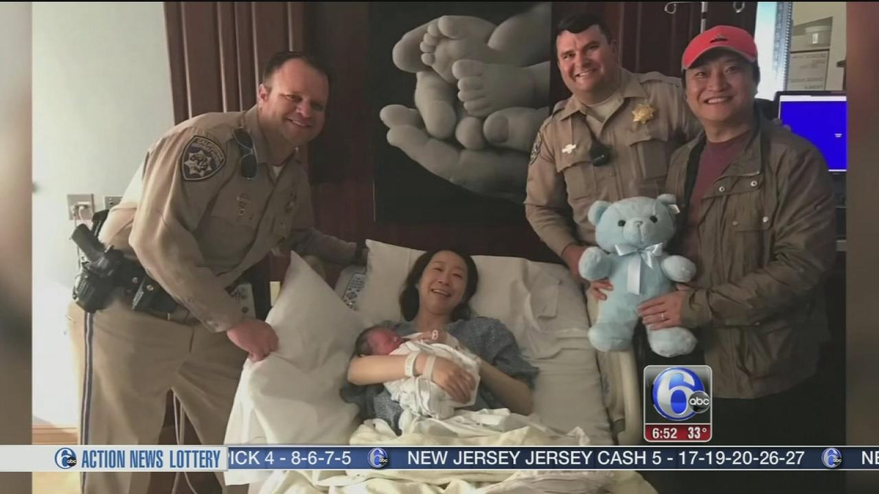 Baby born in car after father gets pulled over for speeding in Ca.