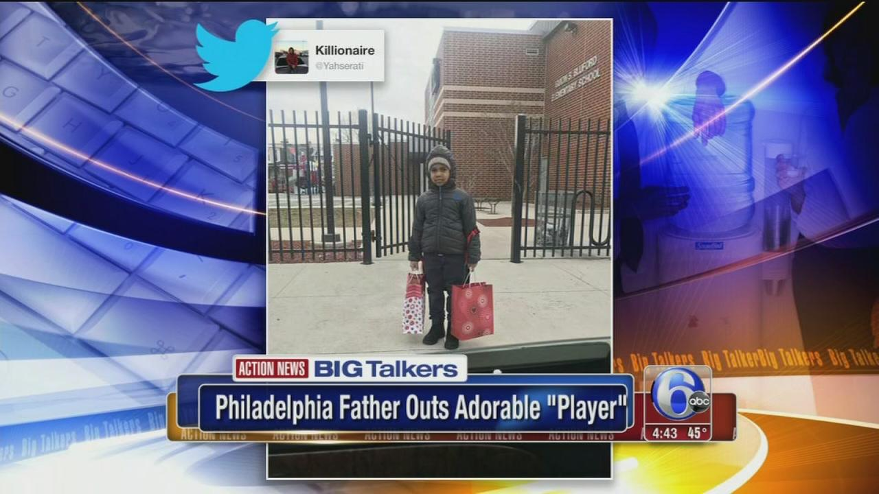 philly dad shares pic of son going to school with two valentine s