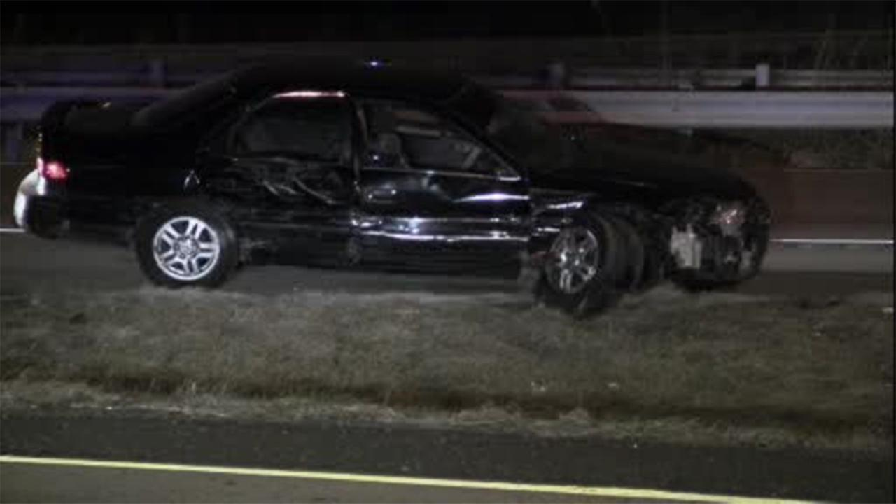 Four people, including a 10-year-old child, were injured in a crash in Northeast Philadelphia.