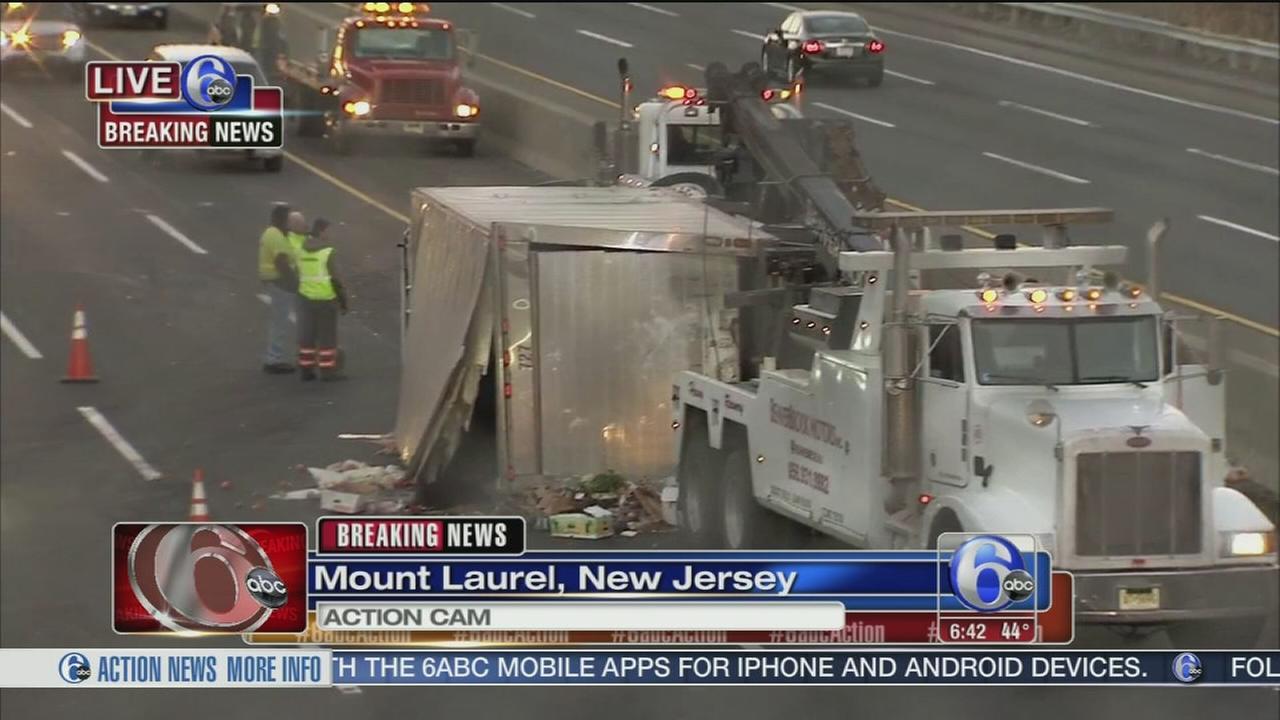 Tractor trailer crash on NJ Turnpike