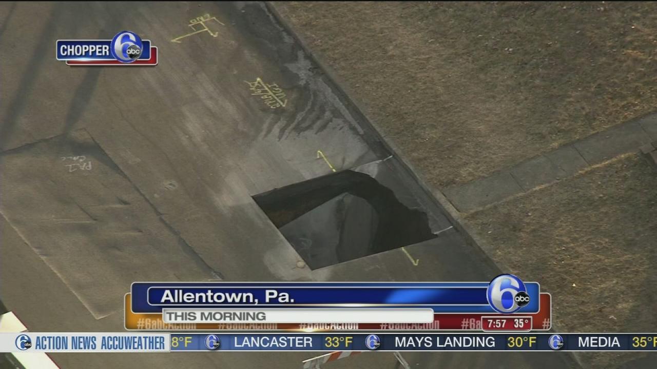 Sinkhole opens up in Allentown neighborhood