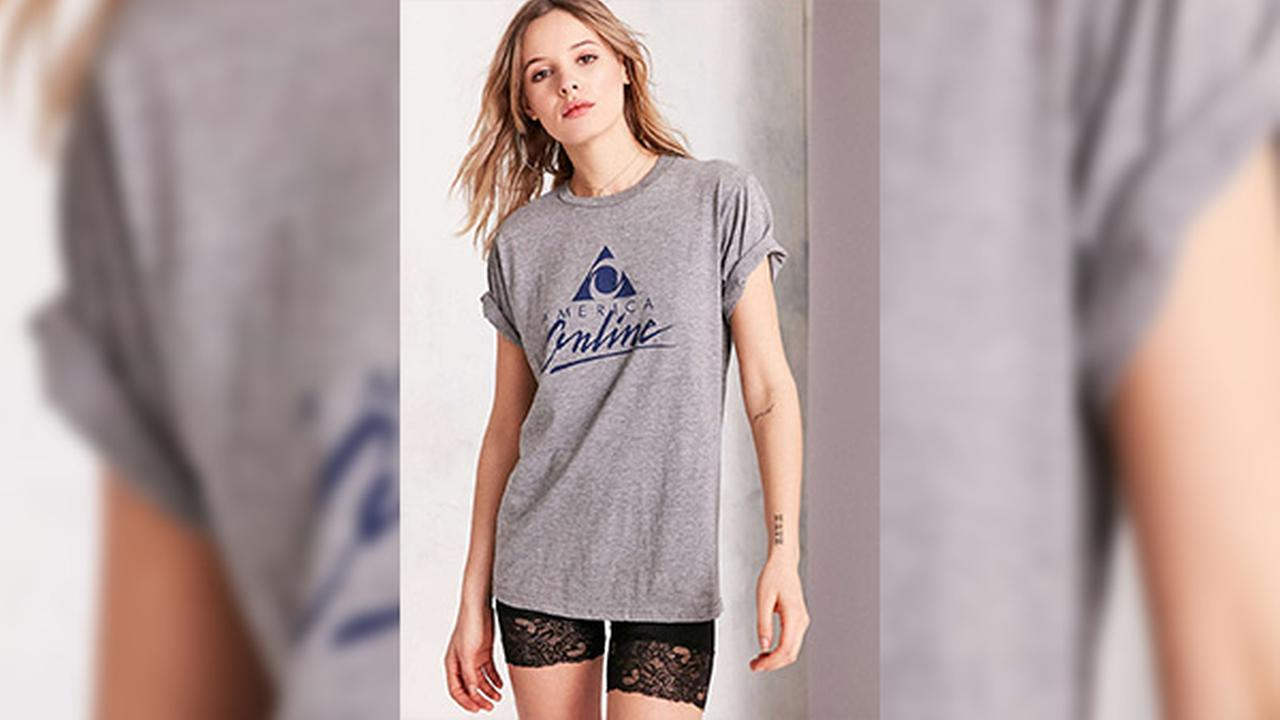 You've got t-shirt: Urban Outfitters selling AOL logo shirt for $45