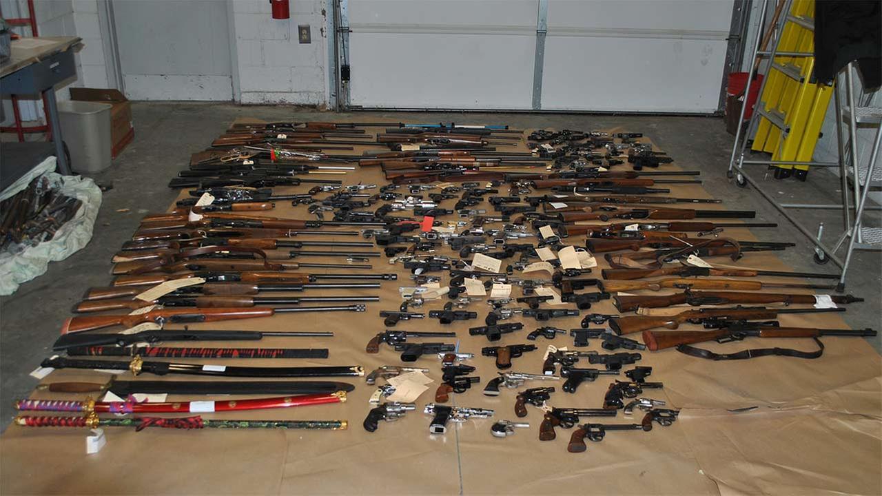 Abington police destroy 185 guns held in storage