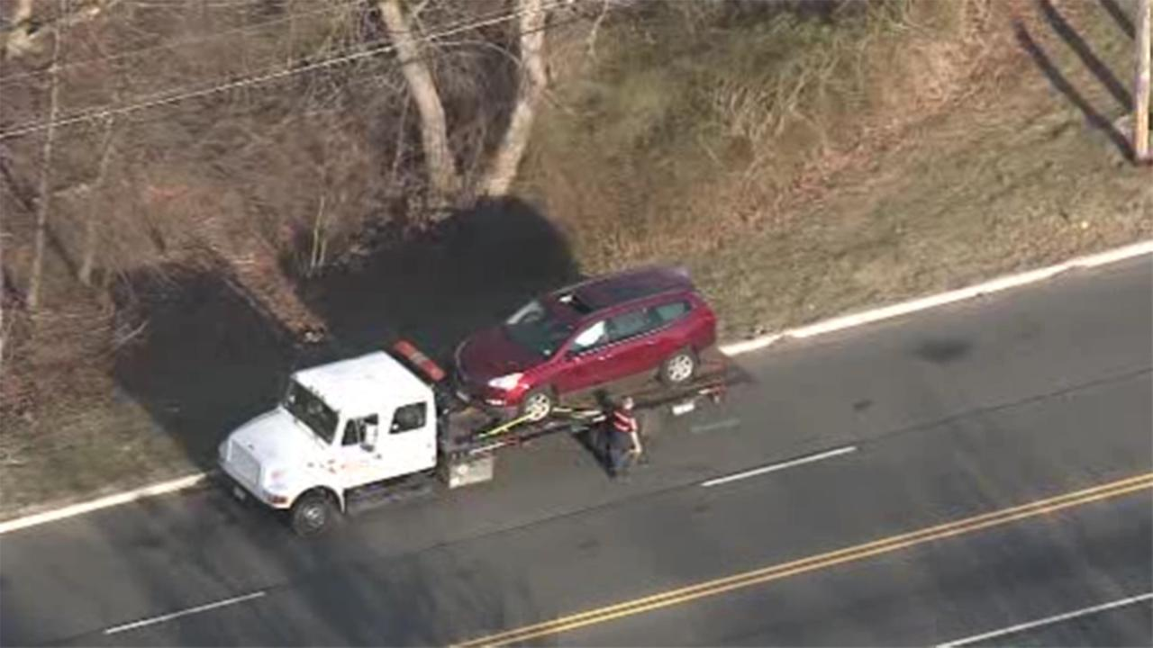 Six people, including children, are hospitalized following a crash in Deptford Township, New Jersey.