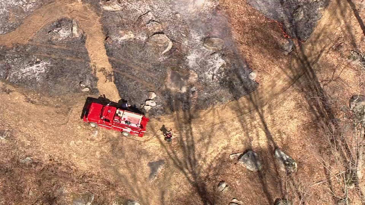 Brush fire burns several acres in Bucks Co.