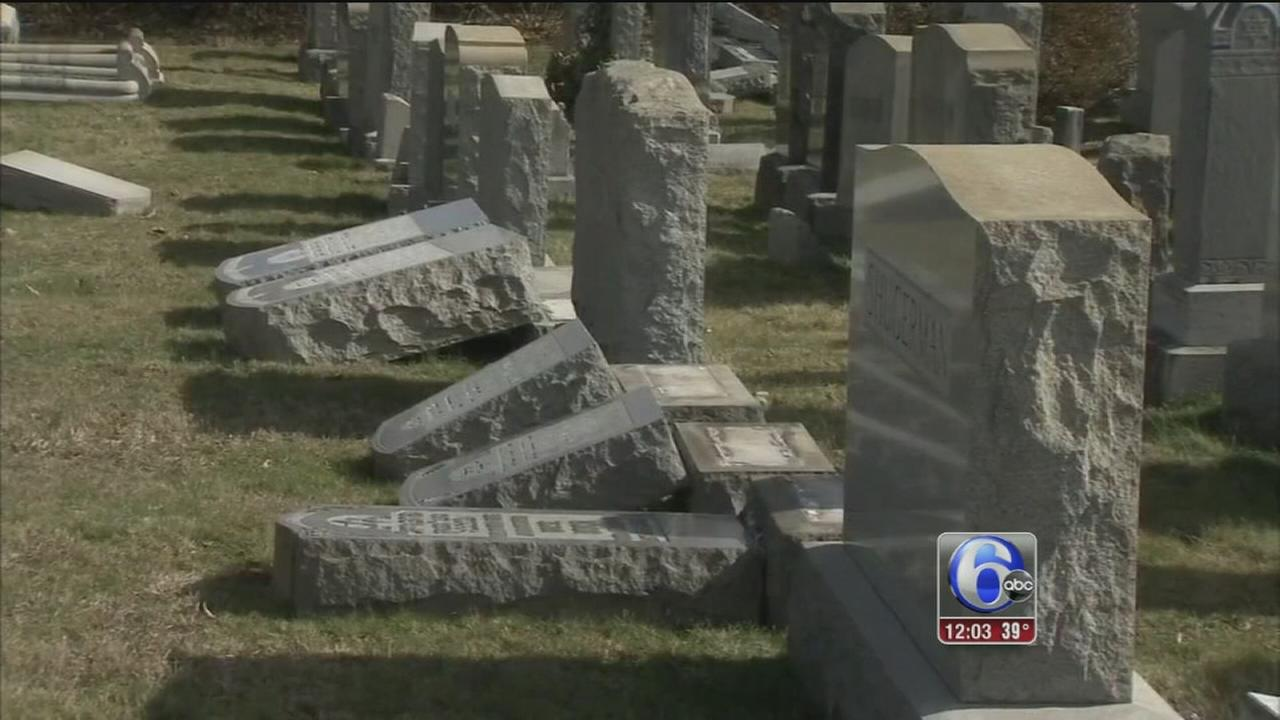 Headstones overturned at Wissinoming cemetery
