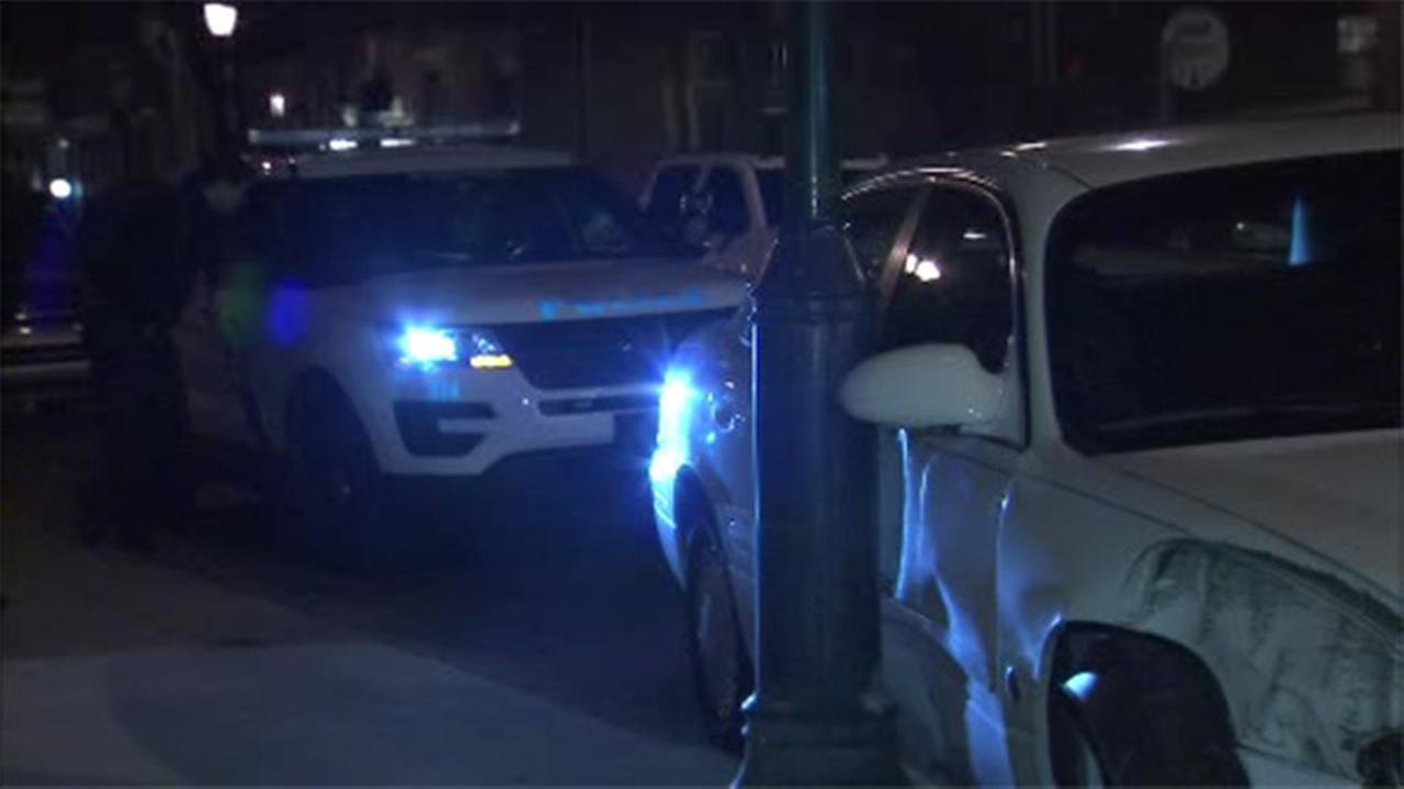 Car crashes into utility pole in Center City