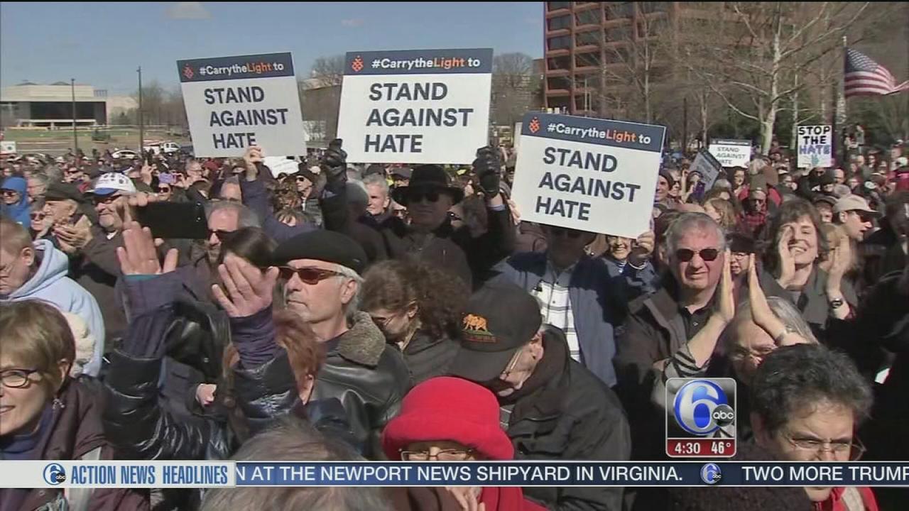 Hundreds Stand Against Hate in Philadelphia