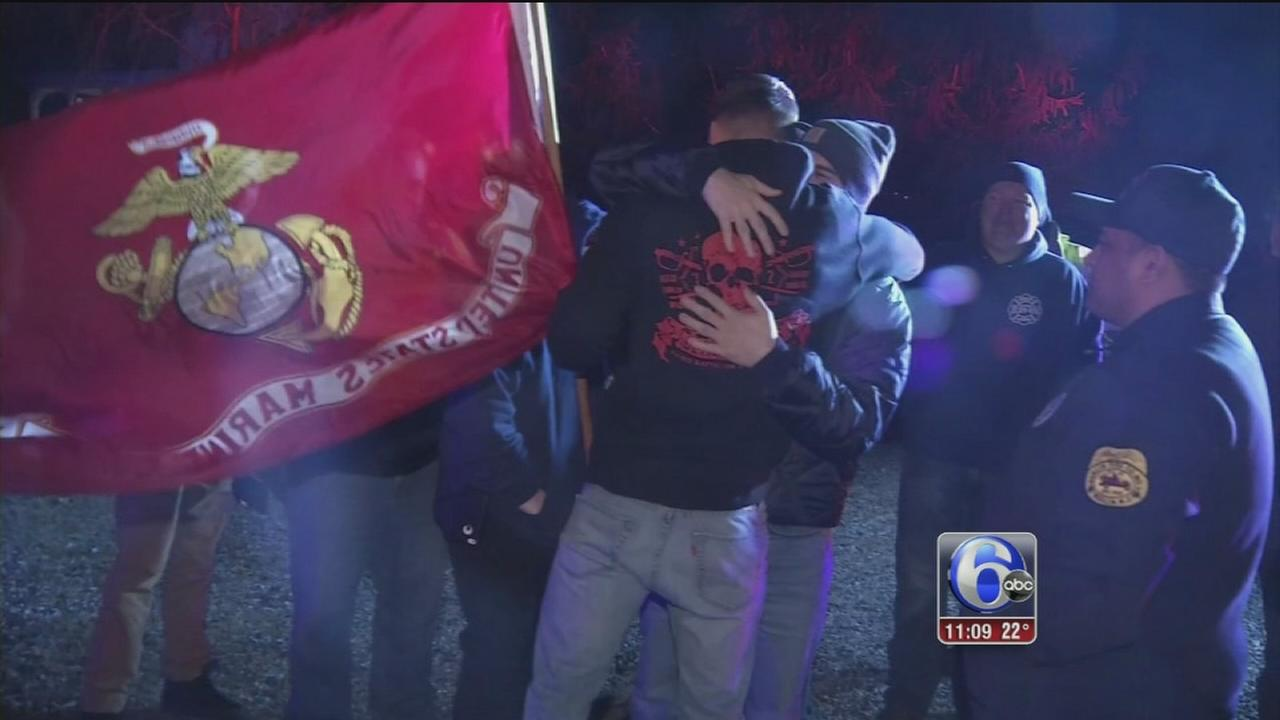 Marine gets special welcome home in Camden County