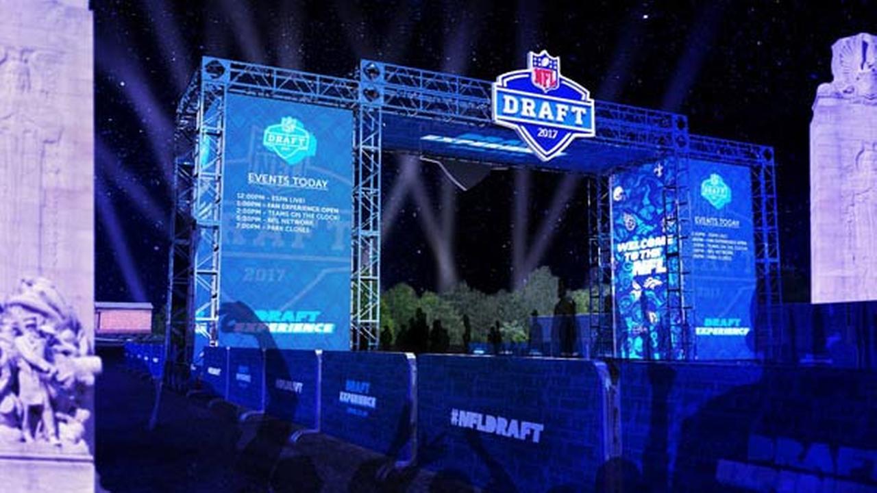Renderings of the NFL Draft Experience.