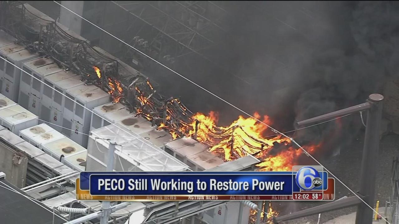 PECO working to restore power after fire