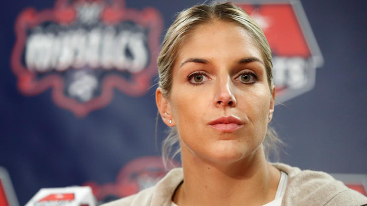 Elena Delle Donne, speak during a news conference in Washington, Friday, Feb. 10, 2017.