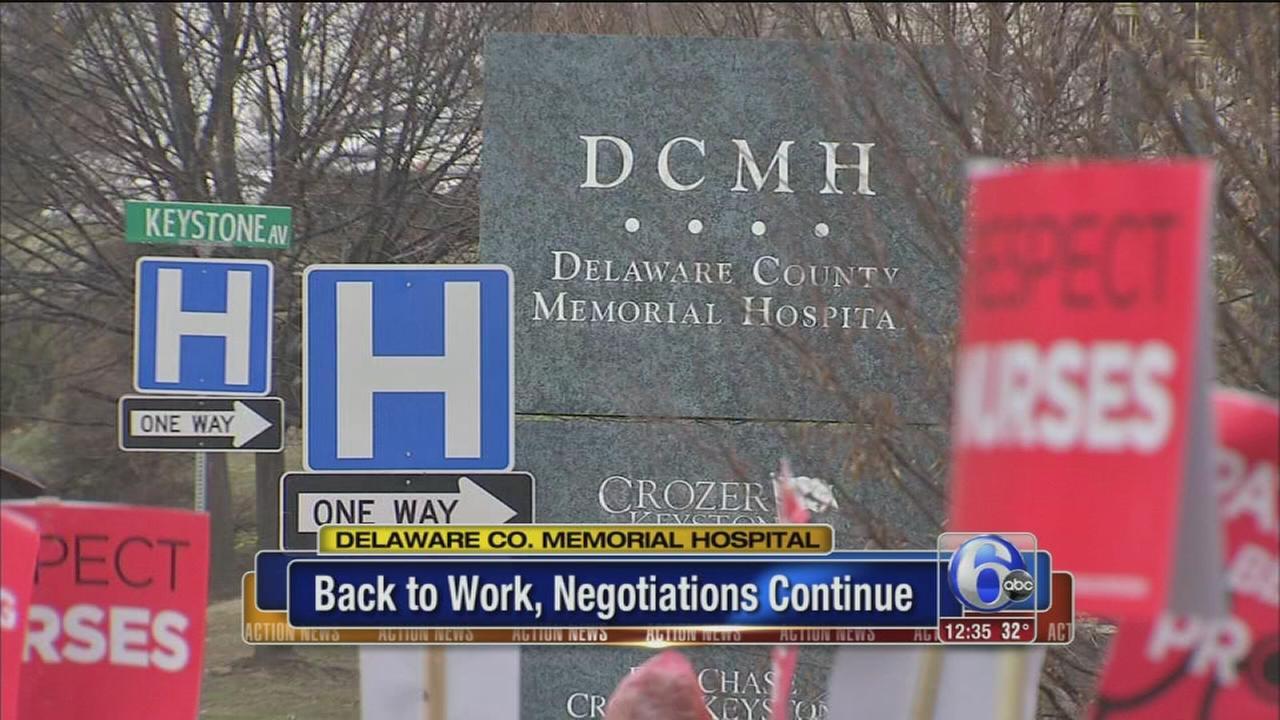 VIDEO: Delco Memorial Hosp. nurses back to work