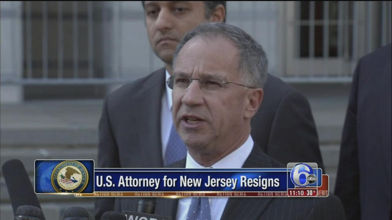 US attorney for New Jersey resigns