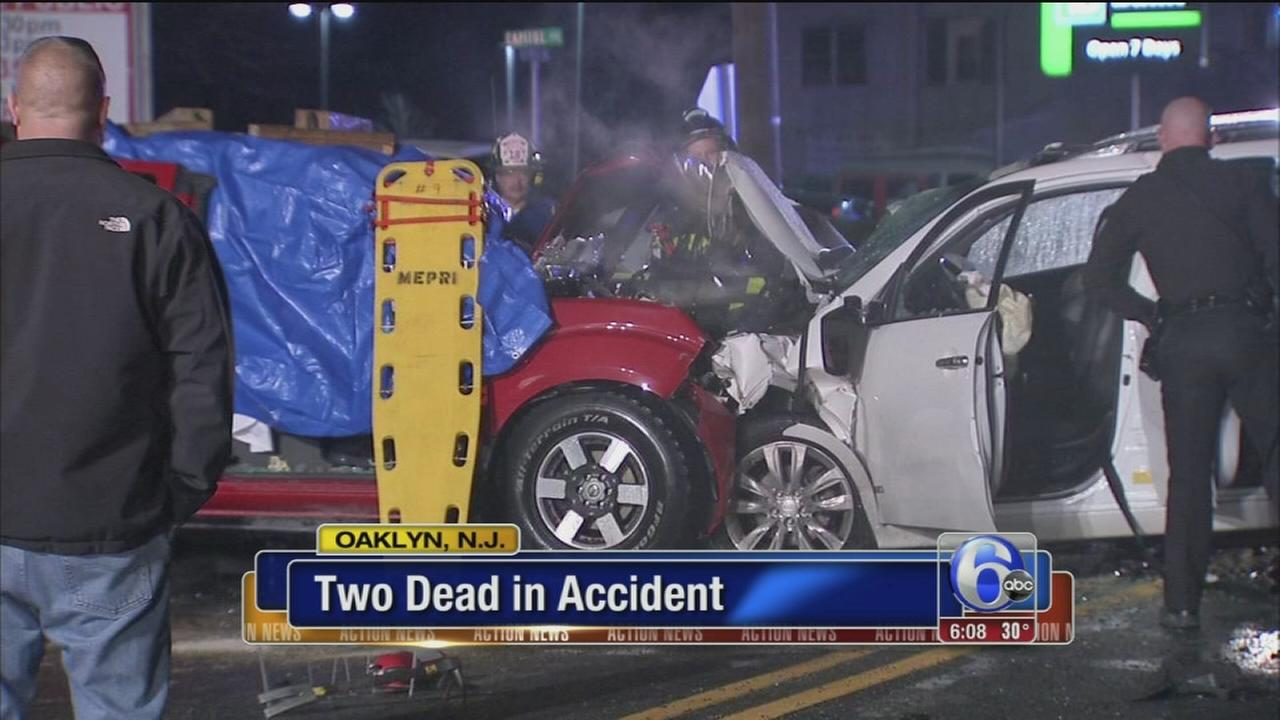 2 dead, 3 hospitalized after car crash, fire in Camden County