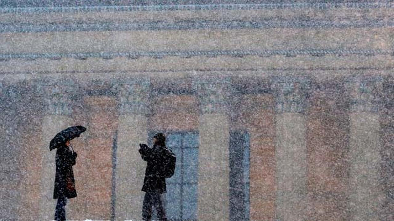 The Philadelphia Museum of Art during a winter snow storm, Friday, Jan. 25, 2013, in Philadelphia.