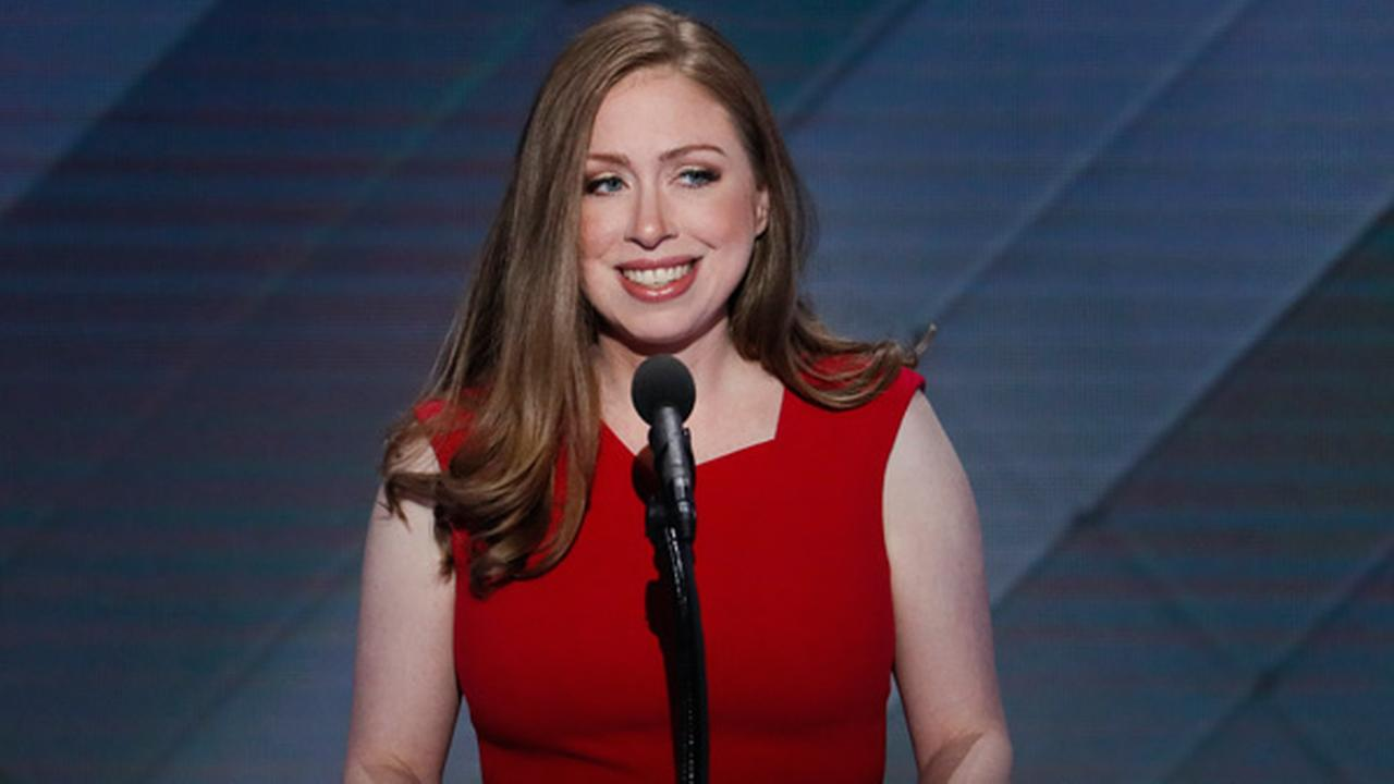 In this July 28, 2016 file photo, Chelsea Clinton speaks during the final day of the Democratic National Convention in Philadelphia.