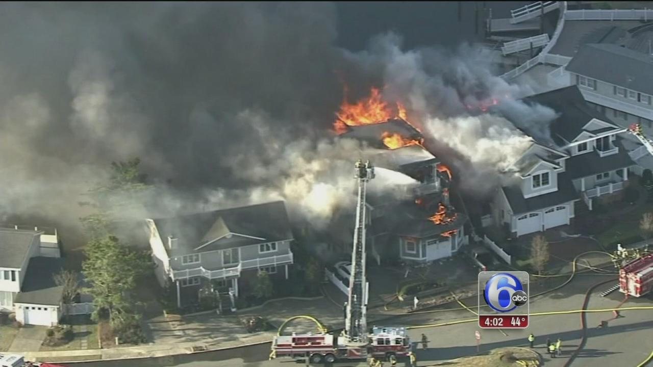 Homes destroyed by fire in Avalon, NJ